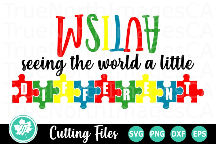 Seeing the World Different- An Autism Awareness SVG Cut File example image 1