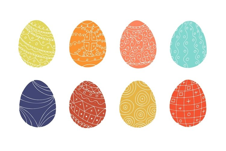Color collection of Easter eggs. - Free Design of The Week Design2