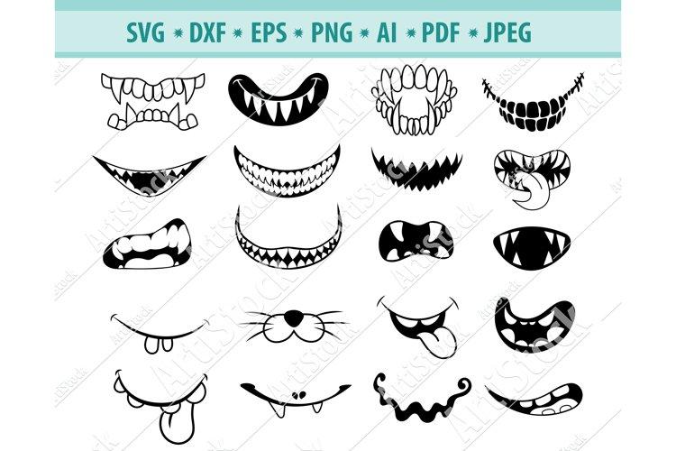 Face mask Svg, Funny mouth Svg, Scary masks Dxf, Png, Eps