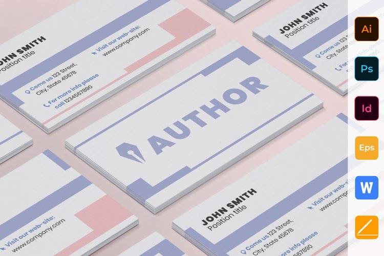 Author Business Card example image 1