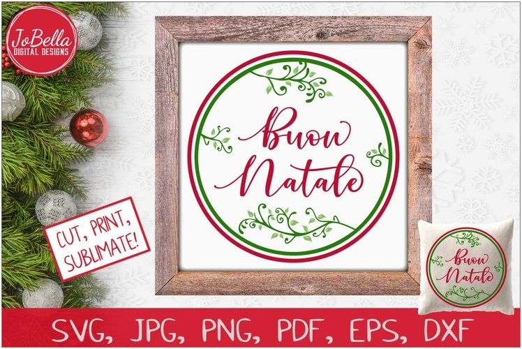 Buon Natale SVG Printable & Sublimation PNG
