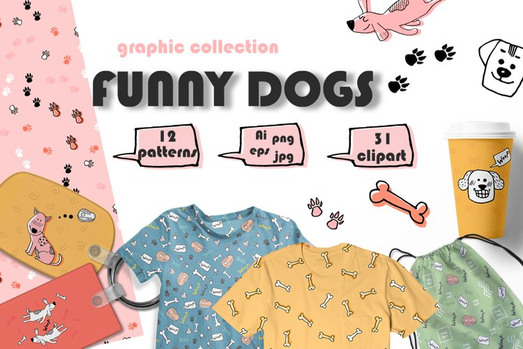 FUNNY DOGS graphic collection