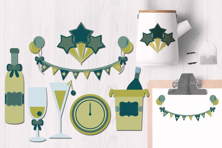 New Years Toast Illustrations
