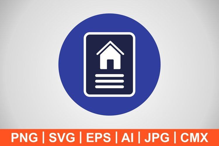 Vector House Document Icon example image 1