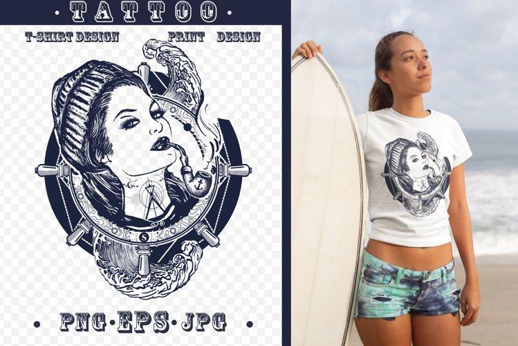 Sailor woman tattoo example image 1