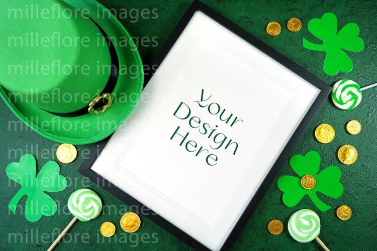 St Patrick's Day Frame Flatlay SVG Craft Mockup JPEG Photo example image 1
