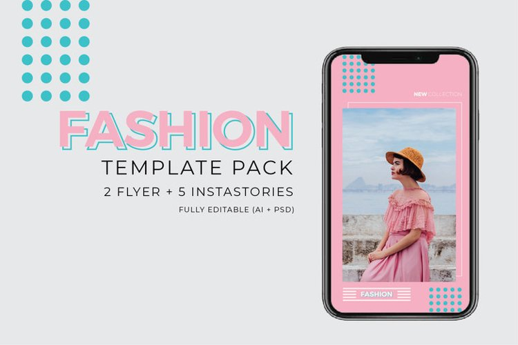 Fashion Template - 2 Poster & 5 InstaStories