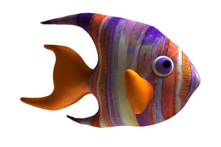 Angelfish PDF Plush Pattern Resizing example image 1