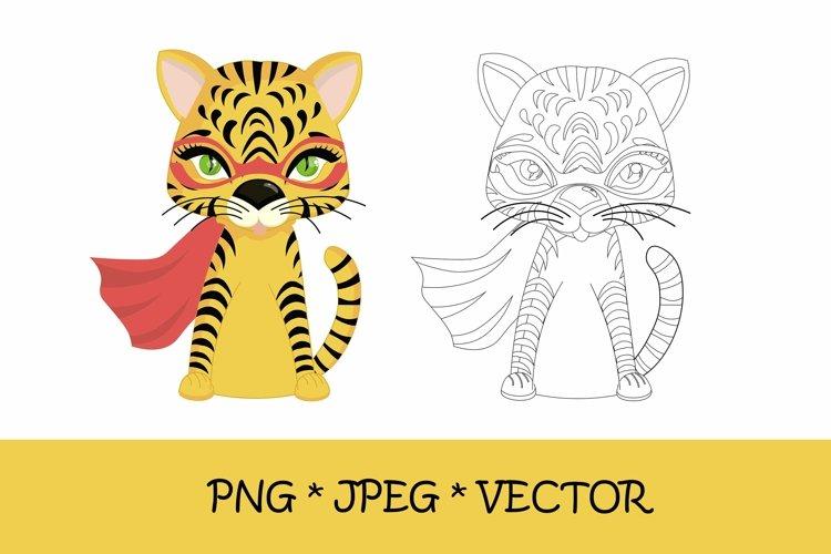 Tiger coloring book. symbol of 2022, png, jpeg, eps