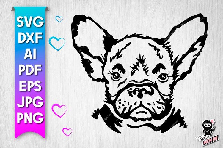 Dog portrait svg cut file example image 1