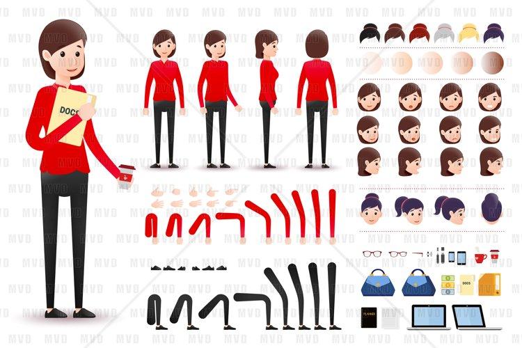 Female Clerk Character Creation Kit Template