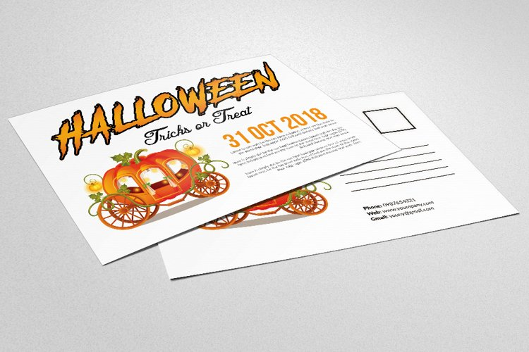 Halloween Trick or Treat Postcard example image 1