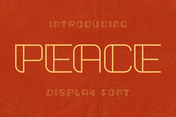 Peace Font example image 1