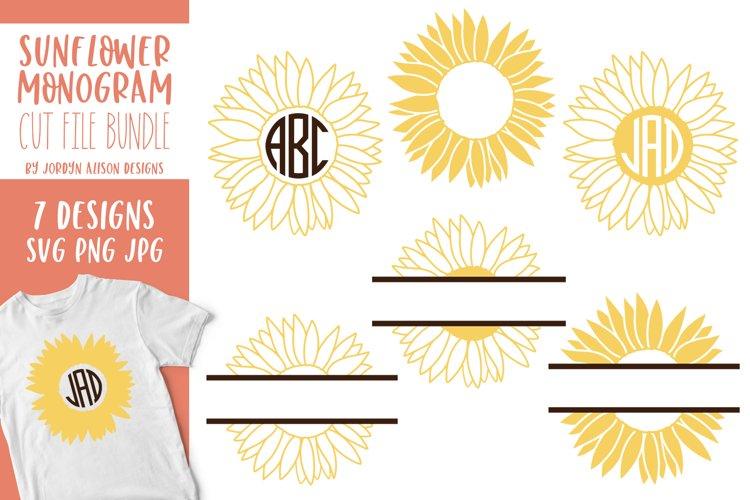 Sunflower Monogram Bundle, SVG Cut Files - Free Design of The Week Font