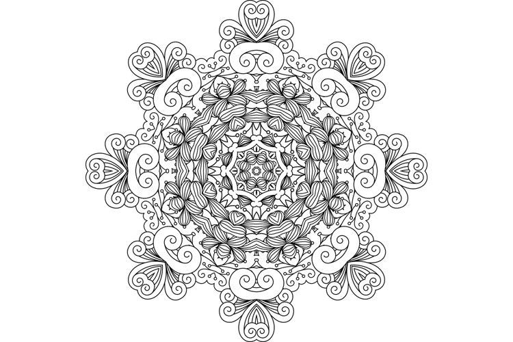 Intricate geometric symmetrical pattern example image 1