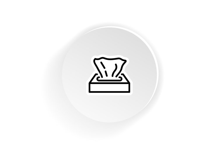 Paper napkins in box icon. example image 1