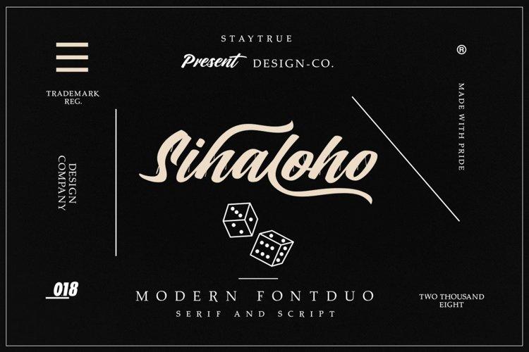 Sihaloho Font Duo example image 1
