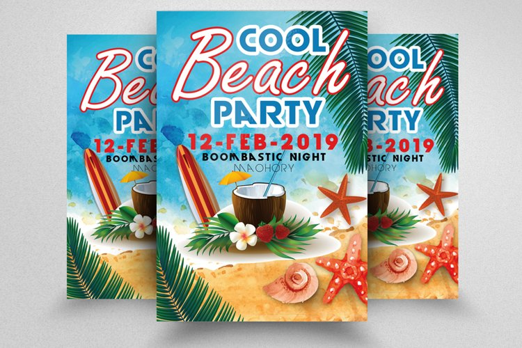 Summer Beach Cocktail Flyer example image 1