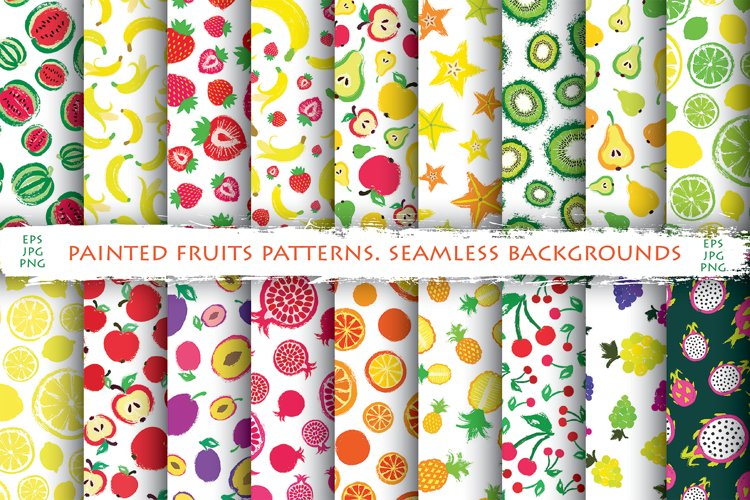 Fruits Patterns Collection example image 1