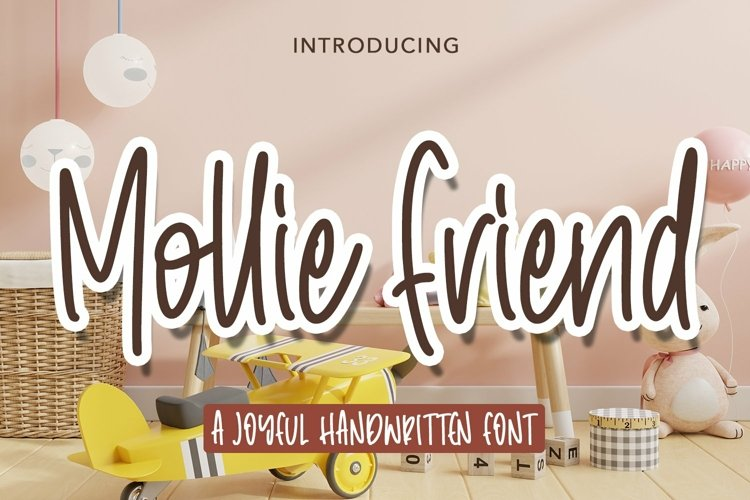 Web Font Mollie Friend - Joyful handwritten Font example image 1