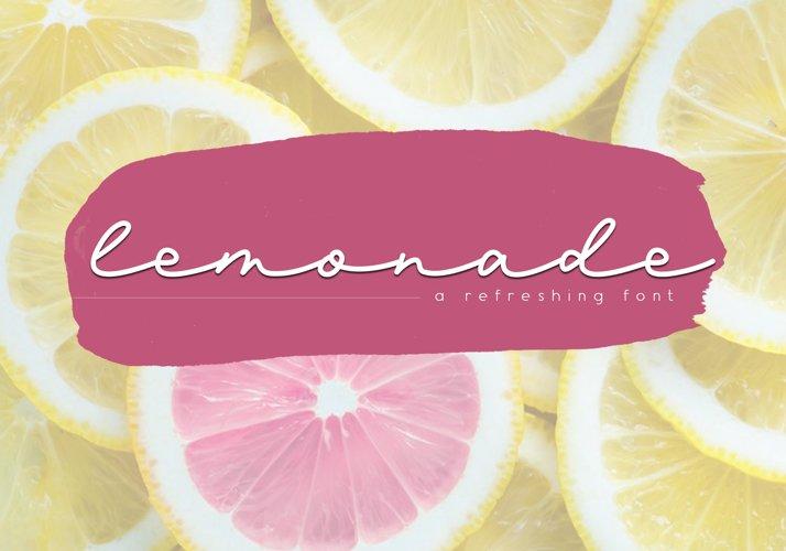 Lemonade - Handwritten Script Font example image 1