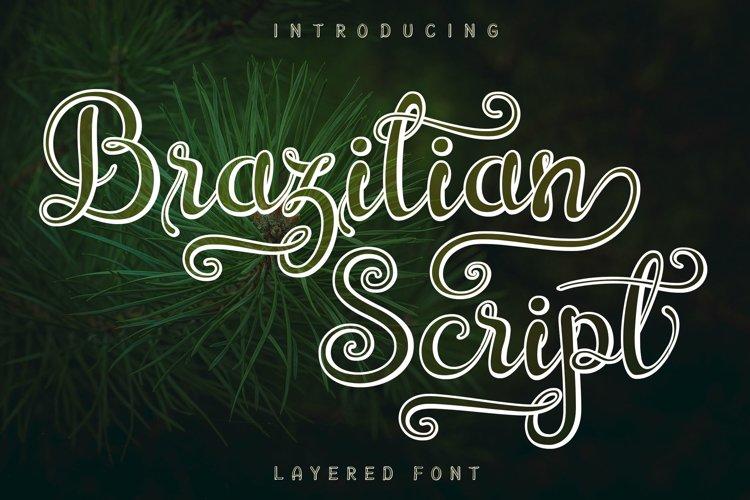 Brazilian Script LAYERED FONT