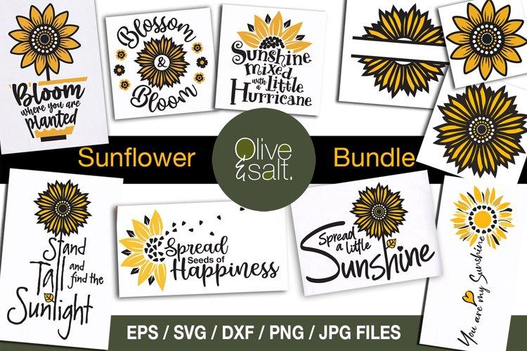 Sunflower svg bundle, sunshine svg bundle, motivational svg example image 1