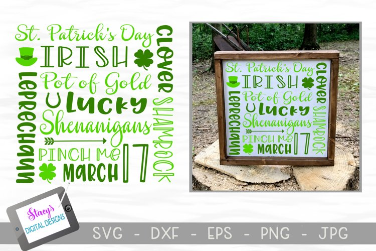 St. Patrick's Day Subway Art SVG example image 1