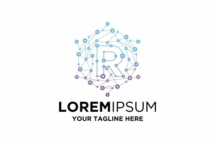 Initial R Letter Blockchain Technology