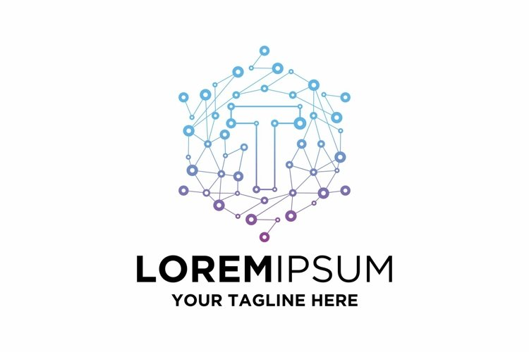 Initial T Letter Blockchain Technology