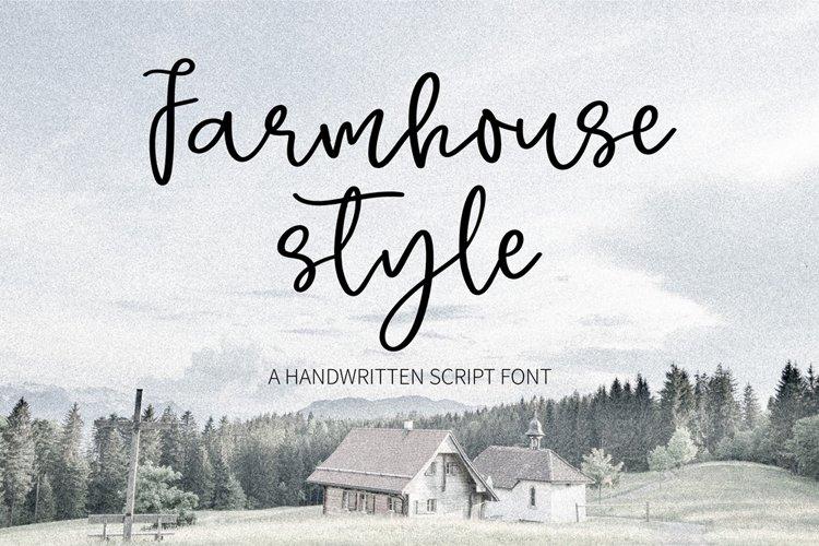 Farmhouse style- A sweet handwritten script font example image 1