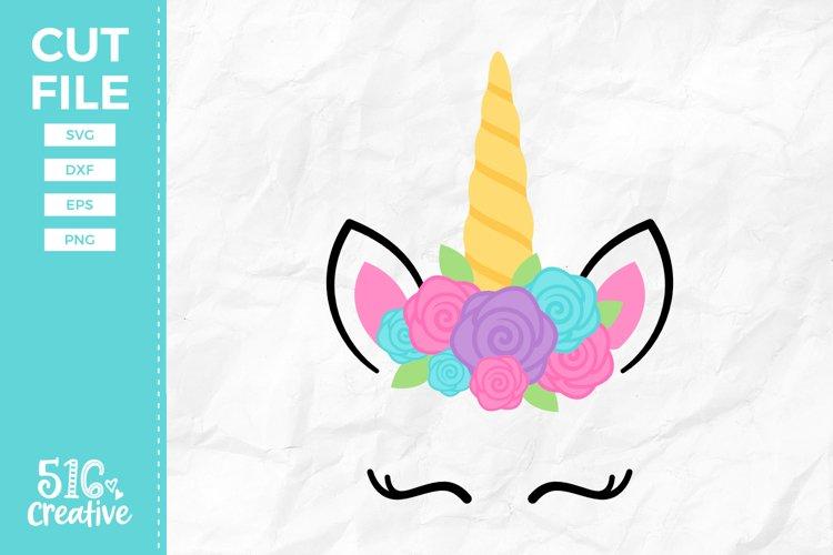 Unicorn Face SVG DXF EPS PNG example image 1