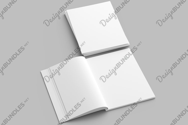 Open magazine with a glued binding. Vertical A4 format. example image 1