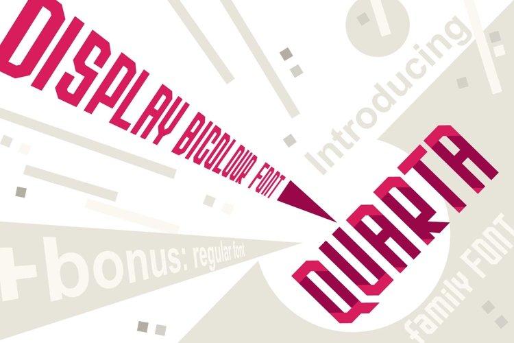 Quarta font family example image 1