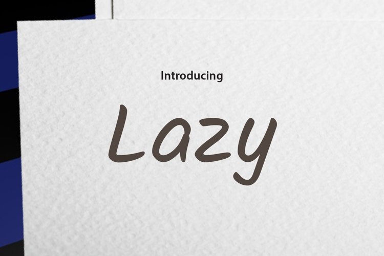 Being Lazy example image 1