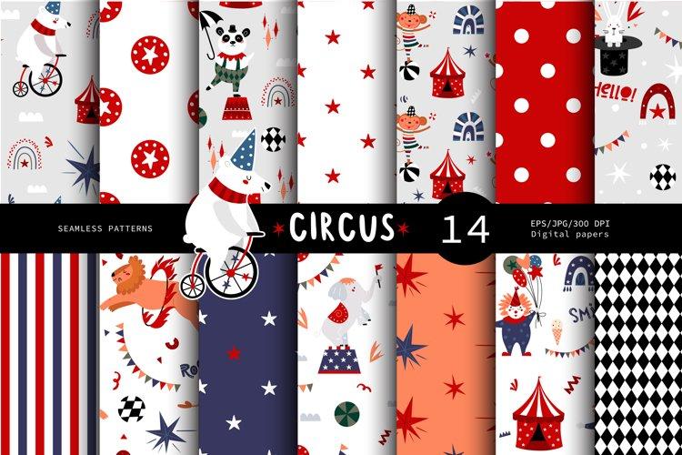Circus seamless pattern, Childrens circus