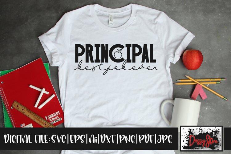 Principal Best Job Ever SVG DXF Ai EPS PDF PNG JPG example image 1