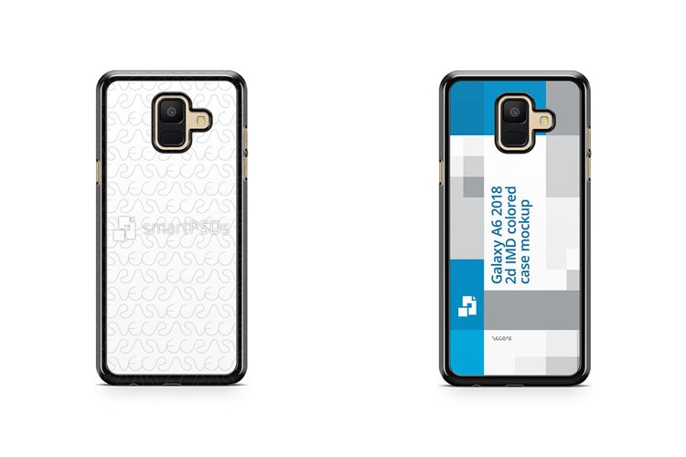 Samsung Galaxy A6 2018 2d Colored Case Design Mockup example image 1