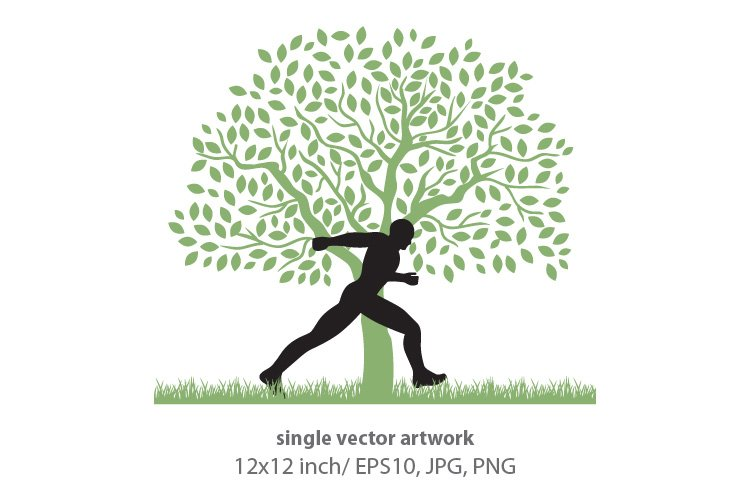 RUNNER- SINGLE VECTOR example image 1