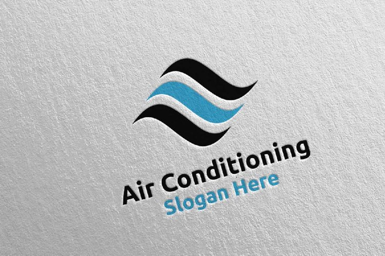 Air Conditioning and Heating Services Logo 4 example image 1