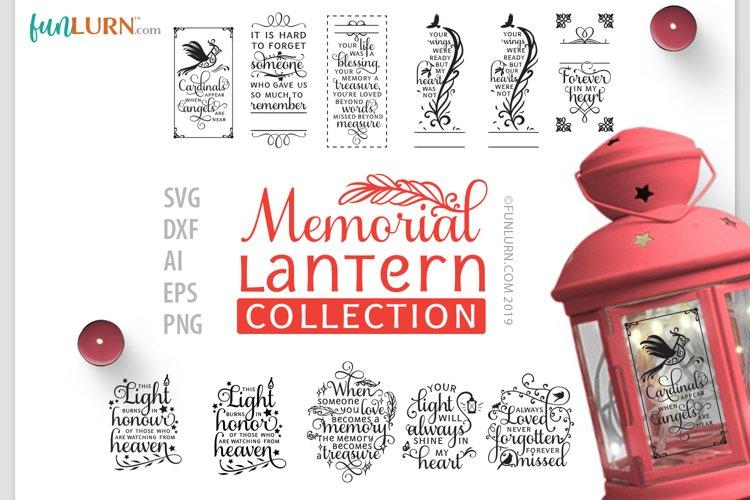 Memorial Lantern Collection | SVG Cut File Bundle example image 1