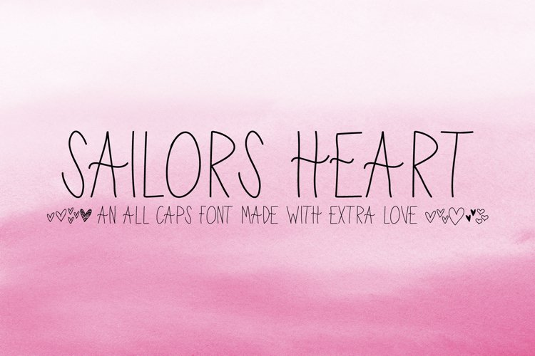Sailor's Heart - A Handwritten Font Made with Extra Love example image 1