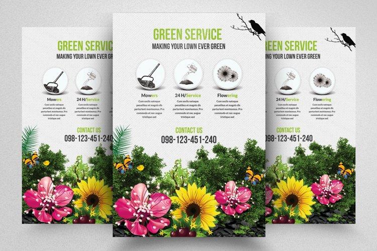 Green/Garden Service Flyer Template example image 1