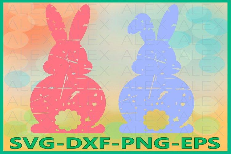 Easter Bunny svg, Bunny Grunge Svg, Distressed Easter SVG