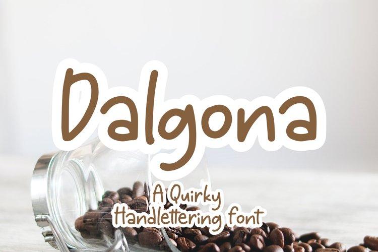 Dalgona - Handlettering Font