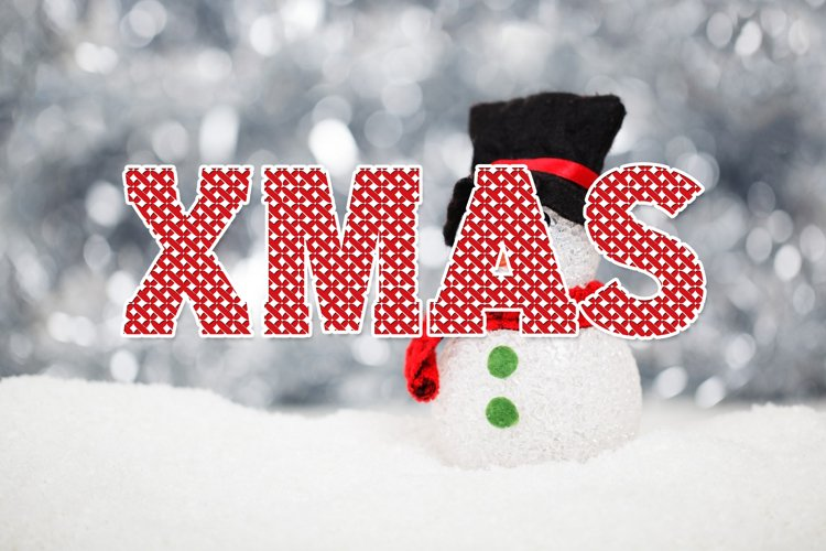Cross Stitch Christmas Font example image 1