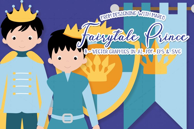 Fairytale Prince Vector Graphics example image 1