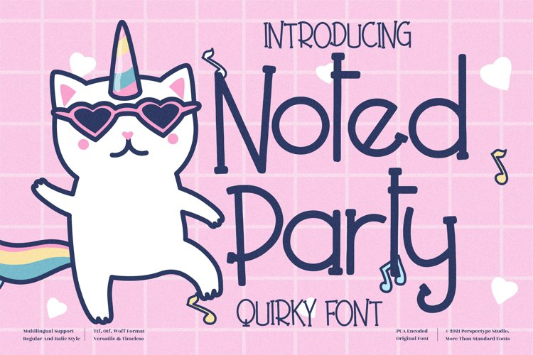 Noted Party - Quirky Handwritten Font example image 1