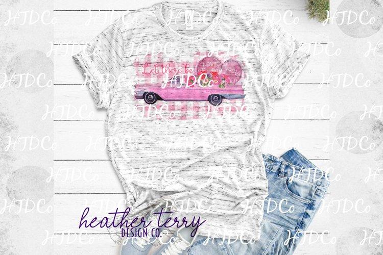 Download Valentines Sublimation Pink Cadillac Watercolor Flowers 1166991 Sublimation Design Bundles