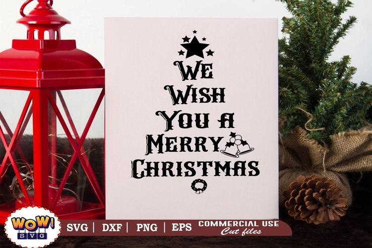 We wish you a merry christmas, Christmas Sign svg, Dxf, Png example image 1